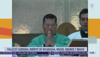 Muere el cardenal emérito de Nicaragua Miguel Obando y Bravo