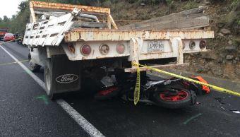 Muere motociclista por choque en la autopista Chamapa-Lechería