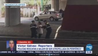 Mujer Desorientada Rescatada Policías Cdmx Pleno Periférico