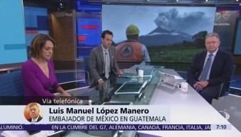 No hay mexicanos entre víctimas del Volcán de Fuego, dice embajador