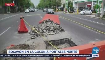 Dejan Inconclusas Obras Drenaje Colonia Portales Cdmx