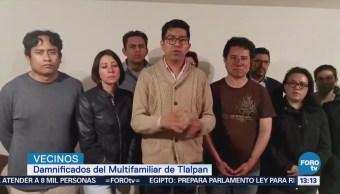 Damnificados Multifamiliar Tlalpan Denuncian Agresión