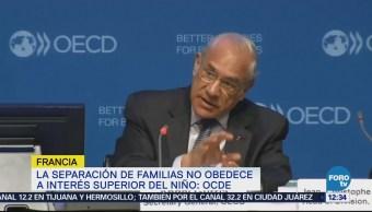 OCDE rechaza separación de padres e hijos en frontera de EU