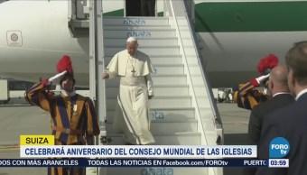 Papa Francisco arriba a Suiza