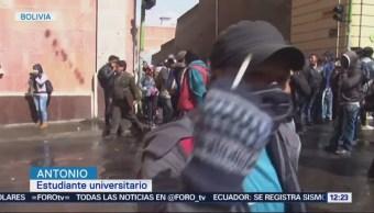 Recrudecen Protestas Estudiantiles Bolivia