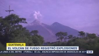 Volcán Fuego Guatemala Registra 7 Explosiones Hora