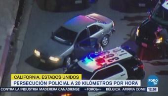 Persecución policial a 20 kilómetros por hora