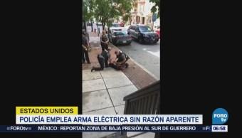 Policía Emplea Arma Eléctrica Sin Razón Aparente Eu