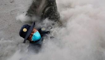 Volcán de Fuego 2 millones de damnificados, Policía Civil