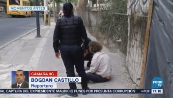 Policías Rescatan Mujer Atropellada Periférico
