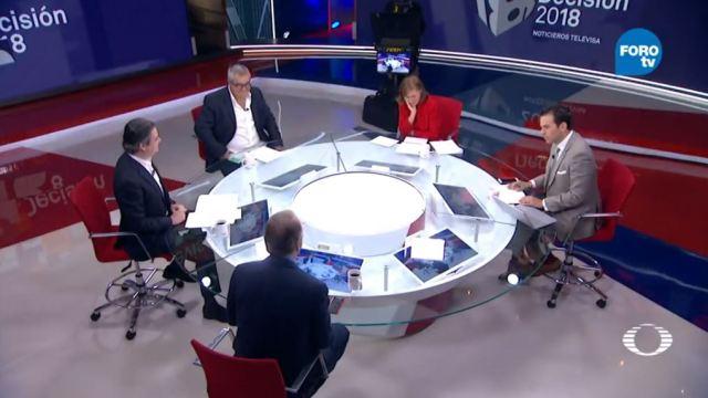 La mesa de análisis del tercer debate presidencial