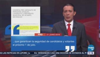 PRD condena asesinato de candidato a alcalde
