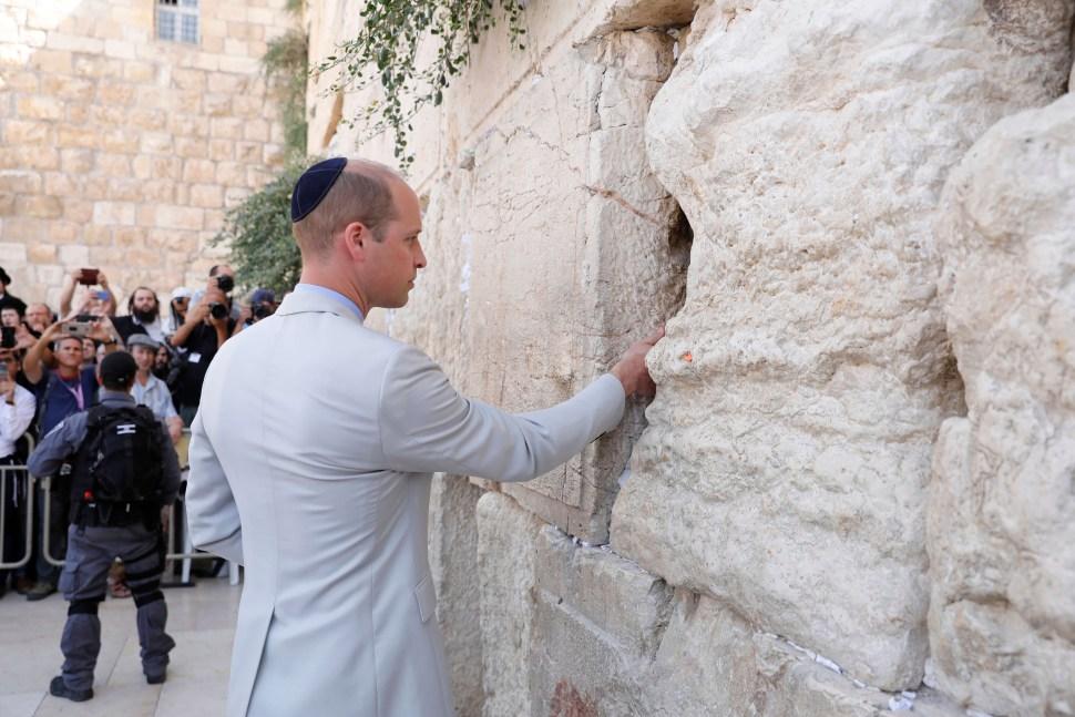 Príncipe Guillermo visita la Ciudad Vieja de Jerusalén