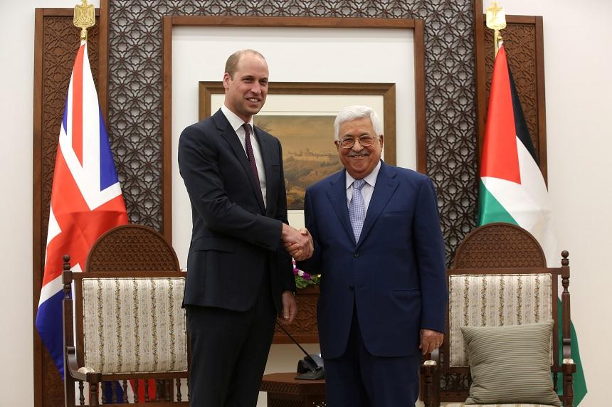 Queremos paz través negociaciones, Abbas príncipe Guillermo