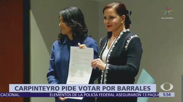 Purificación Carpinteyro pide votar por Alejandra Barrales
