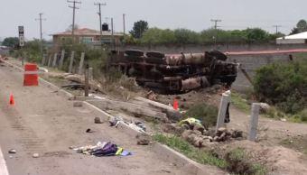 muertos accidente autopista queretaro tractocamiones irapuato