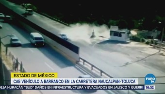 Cae Vehículo Barranco Carretera Naucalpan-Toluca