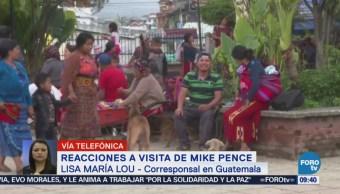 Reacciones Guatemala Visita Mike Pence