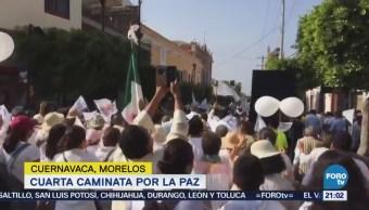 Realizan Cuarta Caminata Paz Cuernavaca Morelos
