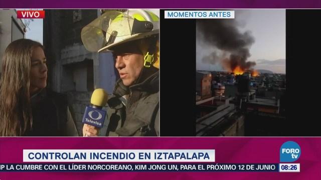 Realizan Labores Remoción Escombros Maderería Iztapalapa