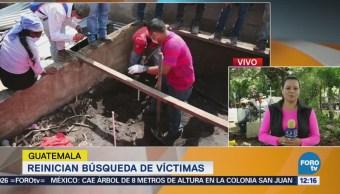 Reanudan búsqueda de víctimas en Guatemala