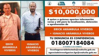 Coahuila ofrece 10 mdp de recompensa por asesinos de Purón