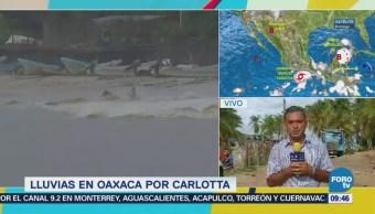 Reporta desaparición de una persona en Oaxaca durante paso de 'Carlotta'
