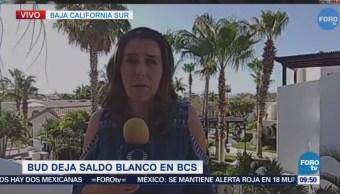 Reportan saldo blanco en Baja California Sur tras paso de 'Bud'
