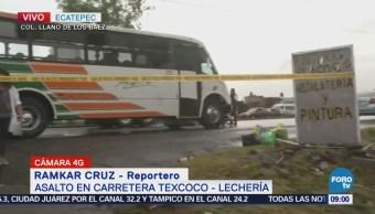Reportan un muerto por asalto en la carretera Texcoco-Lechería