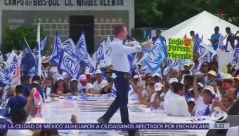 Ricardo Anaya afirma que está comprometido por la paz en Tamaulipas
