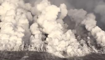 Inunda Lava Famosa Bahía hawaiana Volcán