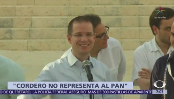 Se enfrentan Ernesto Cordero y Ricardo Anaya