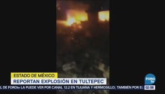 Se registra explosión en Tultepec