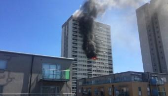 Se registra incendio en otro edificio de departamentos