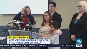 madre e hijo salvadoreños, separados por gobierno