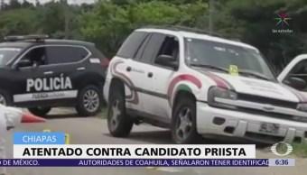 Se salva de atentado candidato del PRI en La Trinitaria, Chiapas
