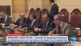 Senado Apoyo Legisladores EU Política Migratoria Trump
