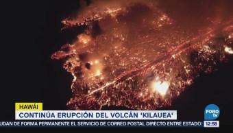 Sigue la erupción del volcán Kilauea