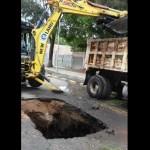 Lluvias provocan al menos tres socavones en Querétaro
