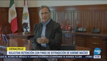 Solicitan detención con fines de extradición de Karime Mací