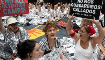 Susan Sarandon fue detenida tras protesta contra Trump