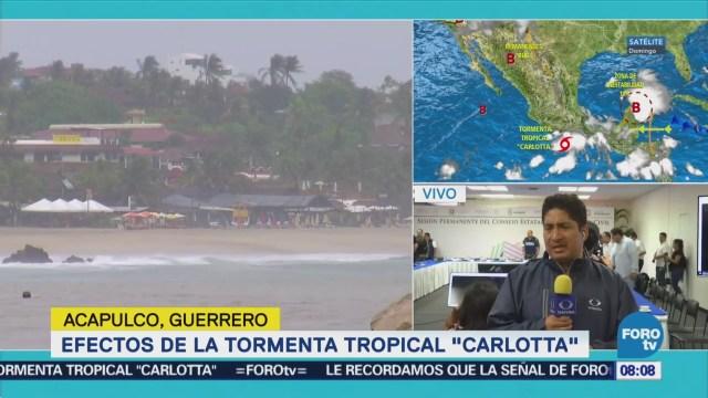 Tormenta tropical 'Carlotta' deja afectaciones en Guerrero