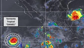Se forma la tormenta tropical 'Daniel' en el Pacífico
