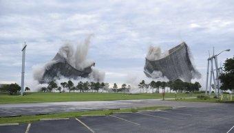 Demolición Torres Enfriamiento Florida, Demolición Controlada, Estados Unidos, Planta Energia, Jacksonville,