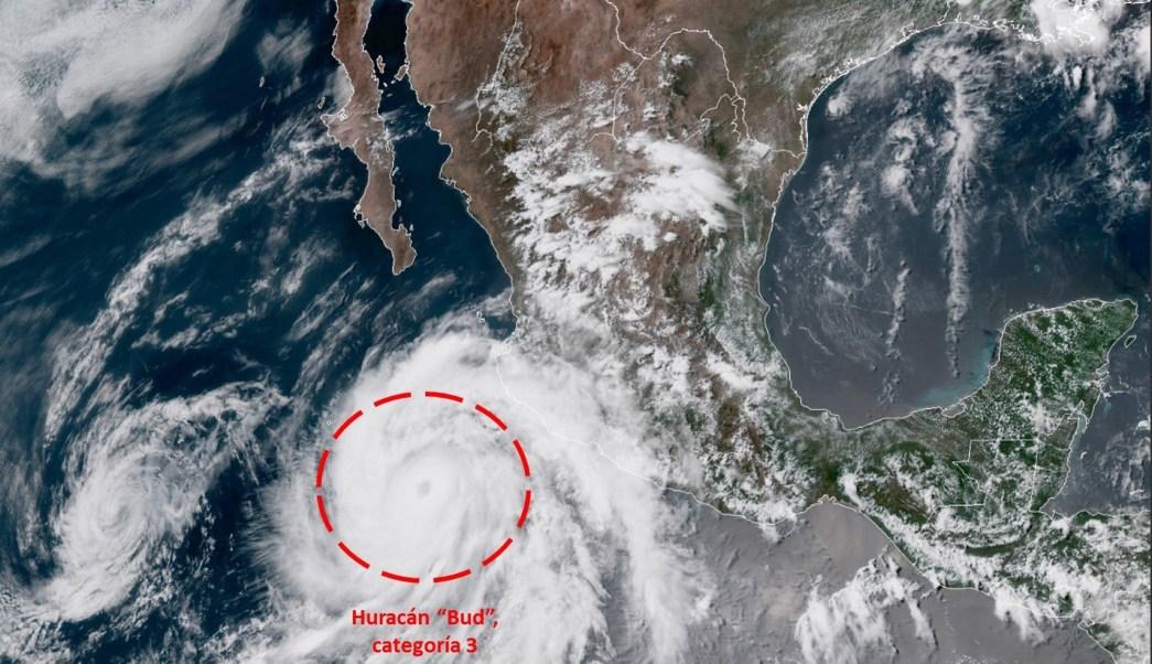 Huracán 'Bud' se acerca a Los Cabos, BCS