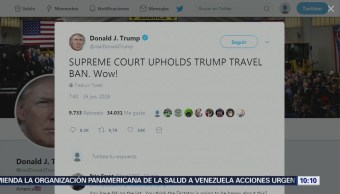 Tribunal Supremo de EU respalda el veto migratorio de Trump
