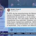 Trump arremete contra los demócratas México