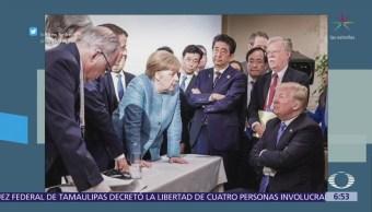 Trump da su versión de la foto con líderes del G7