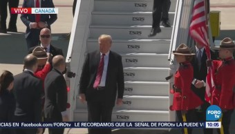 Trump llega a Canadá para participar en cumbre