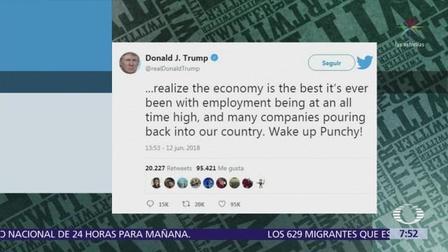 Trump responde a De Niro, dice que ha recibido muchos golpes